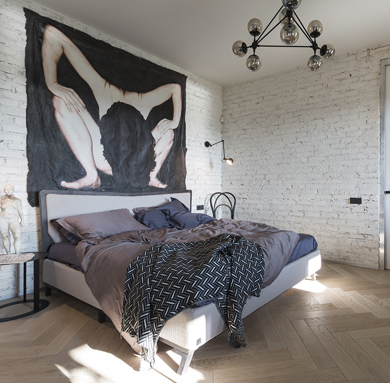 кровать СМ10 в интерьере от студии SBM